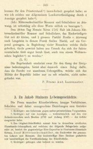Klaar, Karl Zu Jakob Stainers Lebensgeschichte