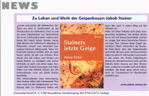 Rezension in Ensemble 04/2014